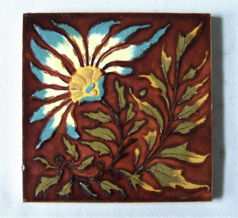 Antique English Art Nouveau Tile Wedgwood