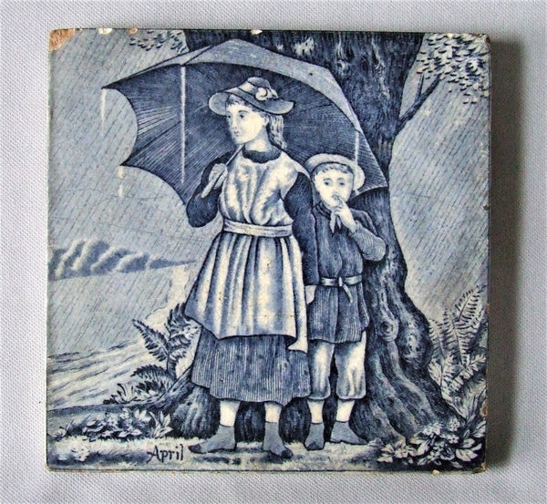 Wedgwood transfer tile april