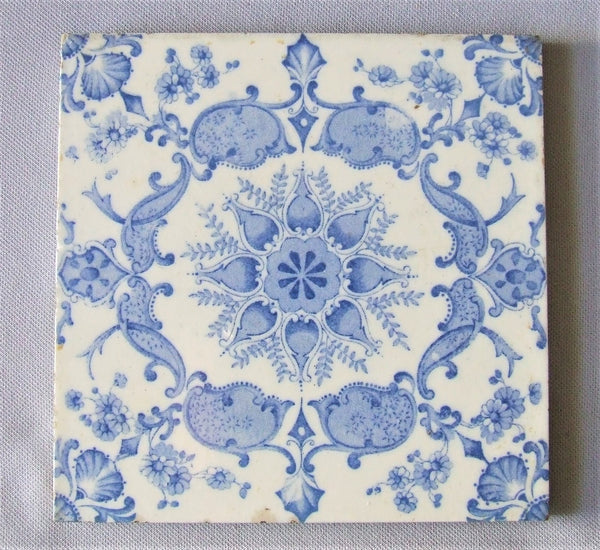 antique tile english transfer