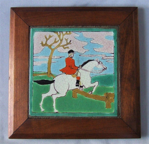 D & M California Tile English Horse Rider Framed