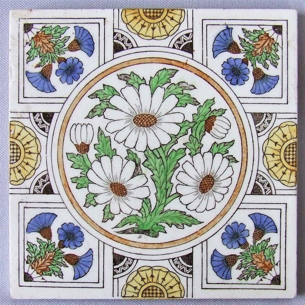 Minton Transfer Tile Flowers
