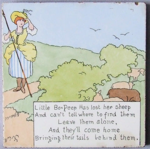 AETCO Nursery Rhyme Tile Little Bo Peep