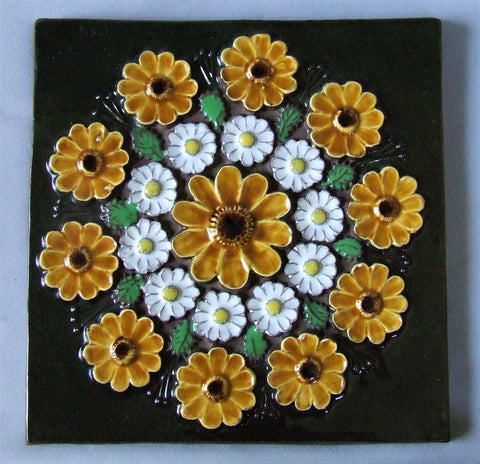 Jie Gantofta Sweden Flower Tile Plaque