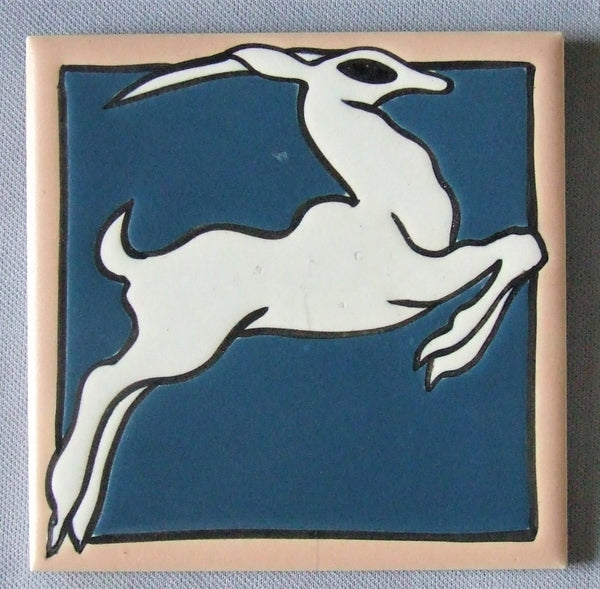 antique tile Mosaic gazelle