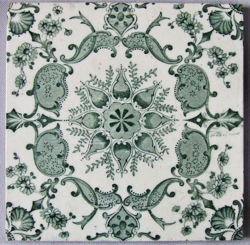 English Transfer Ware Tile