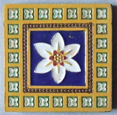 Antique tile Minton Majolica