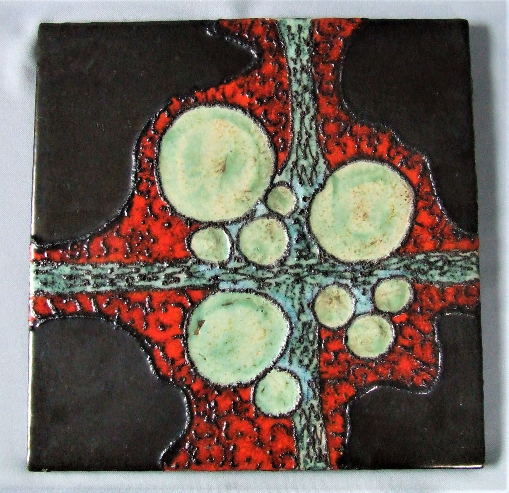 Ruscha West German Pottery Tile