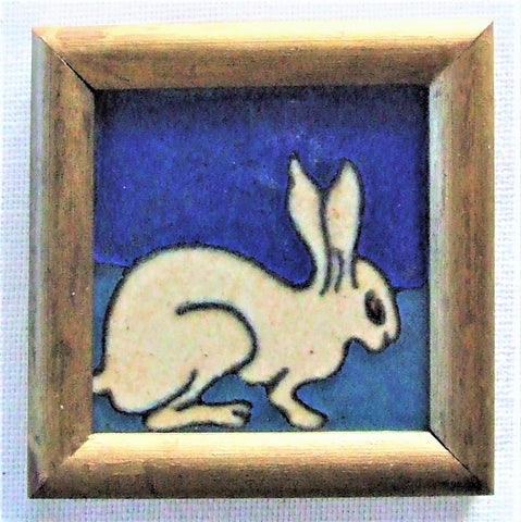 Flint Faience Tile Rabbit