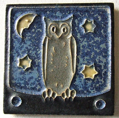 Royal Delft Porceleyne fles Tile owl