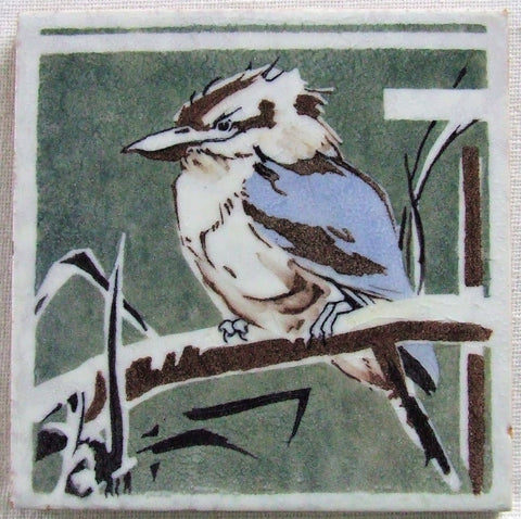 Dunsmore Tile Kookaburra Bird Kingfisher