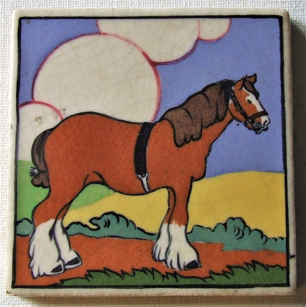 Carter Poole Farmyard Series Tile horse
