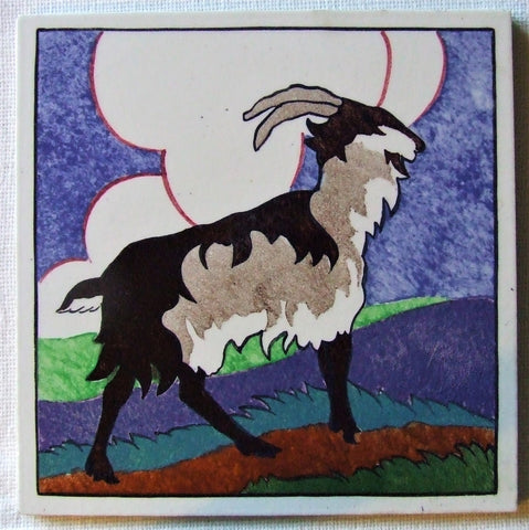 Carter Poole Farmyard Series Tile goat
