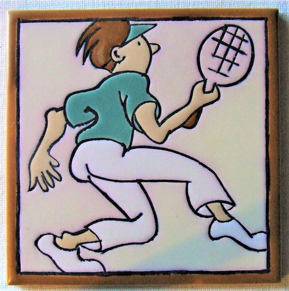 Mosaic Tile Company Tennis Player Man