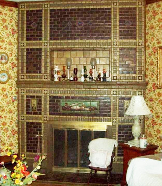 Mueller Mosaic Tile Co Arts & Crafts Fireplace Panel