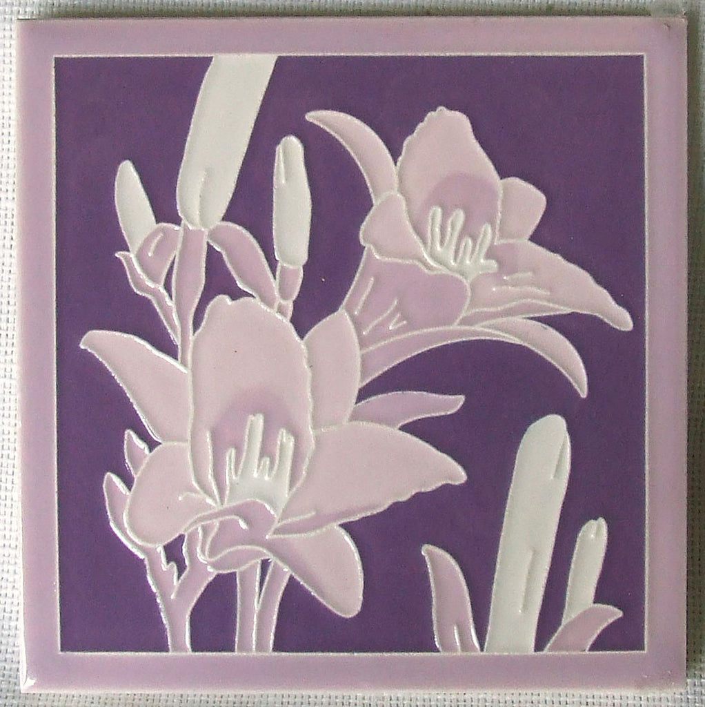 American Encaustic Day Lily Tile