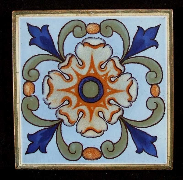 Arts and Crafts Tile and Copper Trivet