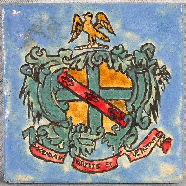 American Encaustic Arts and Crafts Motto Tile