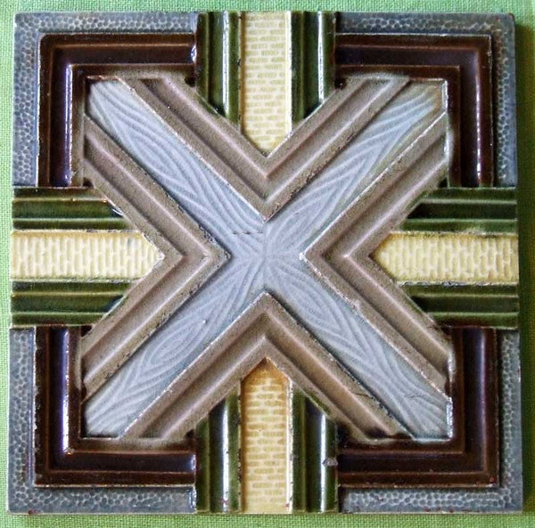 Antique Tile with Geometric Design