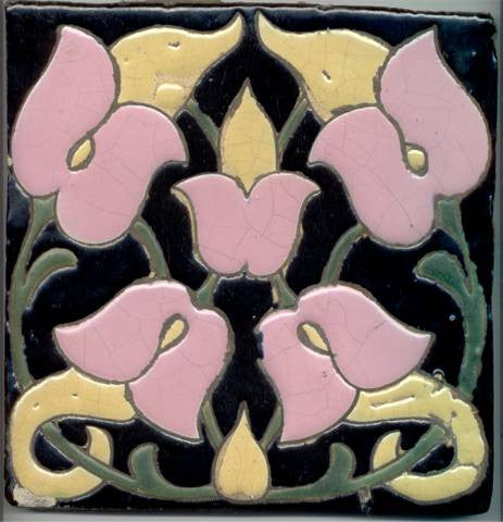 Art Deco Arts and Crafts Tile
