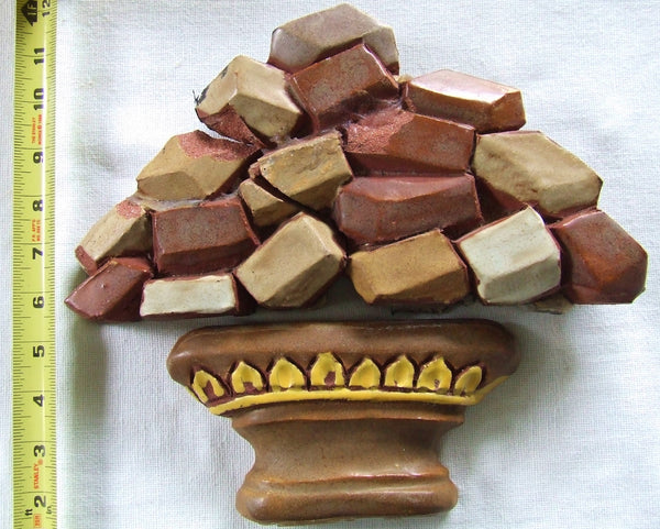 Rare Arts & Crafts Mueller Mosaic Tile Fudge Bowl fr Candy Shop Atlantic City