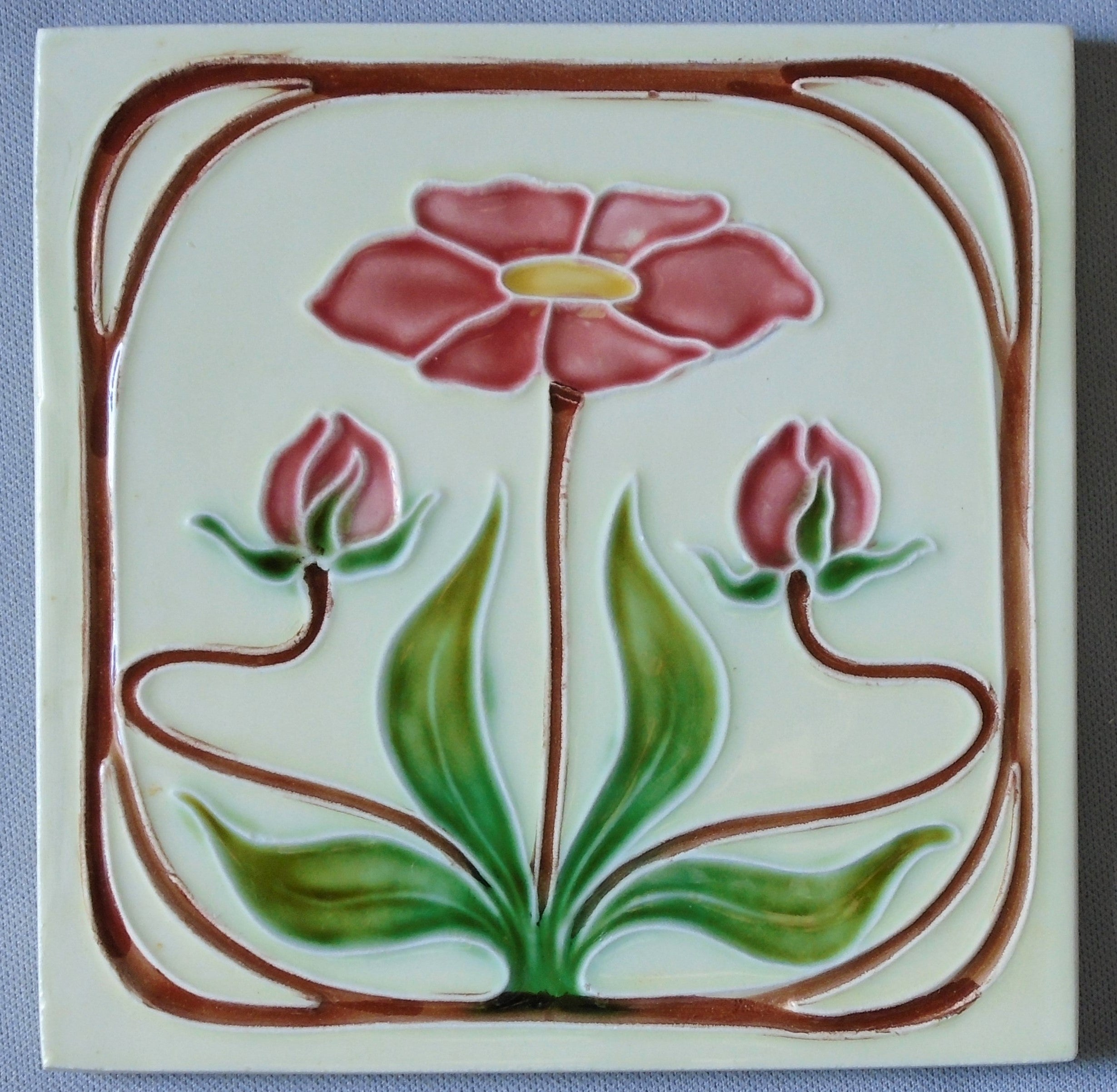 Antique Tile Winter Scene
