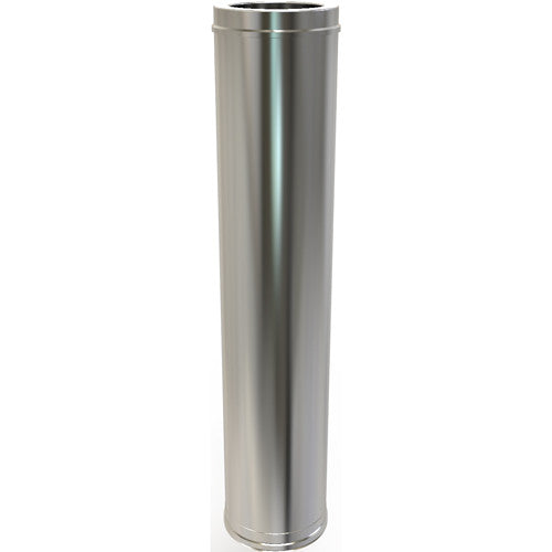 1000mm Twin Wall Stove Pipe Straight