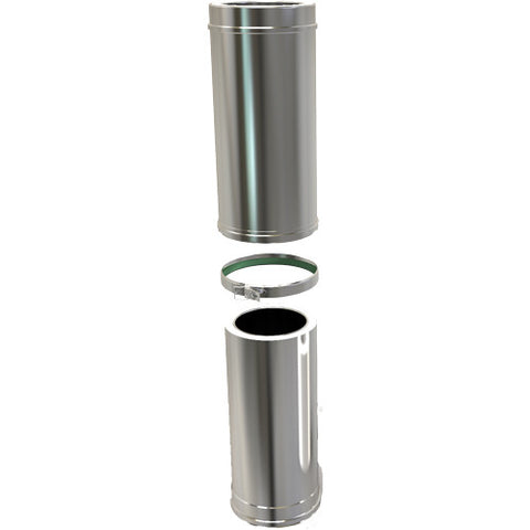 Adjustable Pipe 500-880mm Twin Wall Stove Pipe