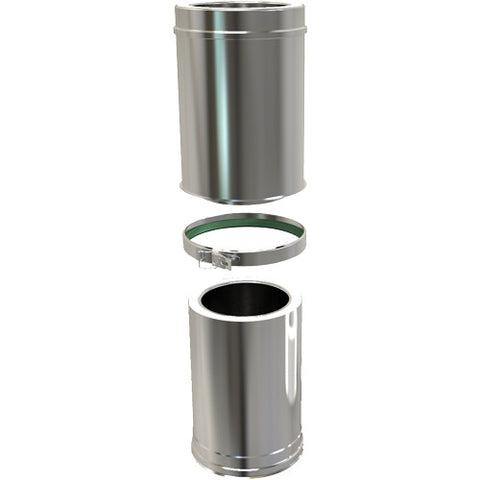 Adjustable Pipe 350 500mm Twin Wall Stove Pipe