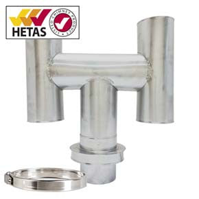 Twin Wall Stove Pipe H-Cowl