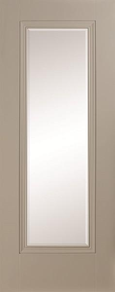 Silk Grey 1p lite clear beveled Door