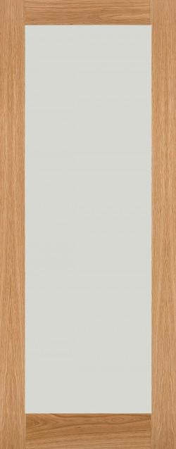 Oak Shaker Clear Glass Internal Door