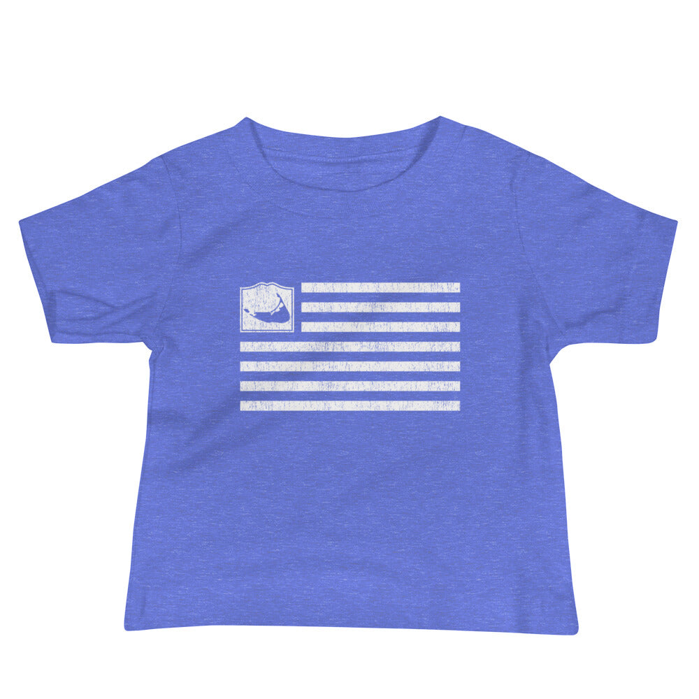 Nantucket Flag Baby Short Sleeve T Shirt