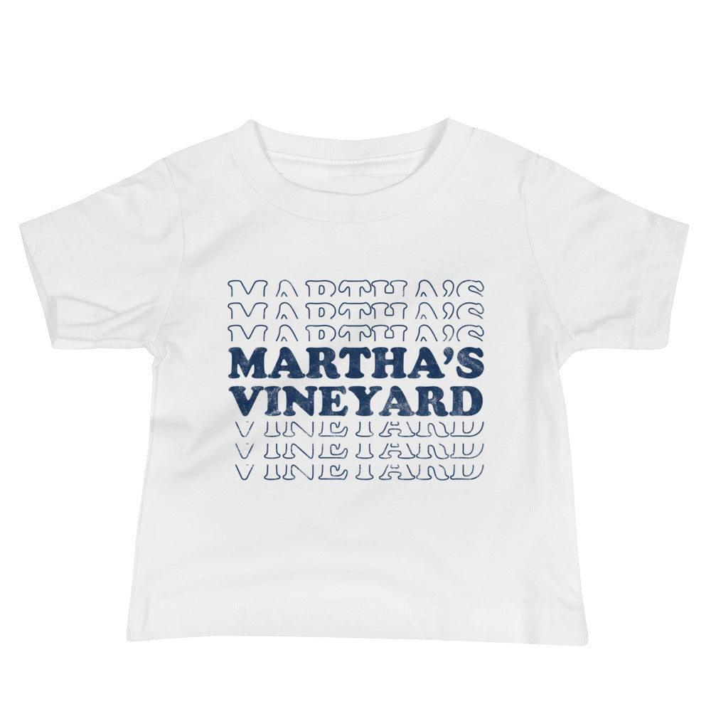 Martha's Vineyard Retro Baby Short Sleeve T-Shirt