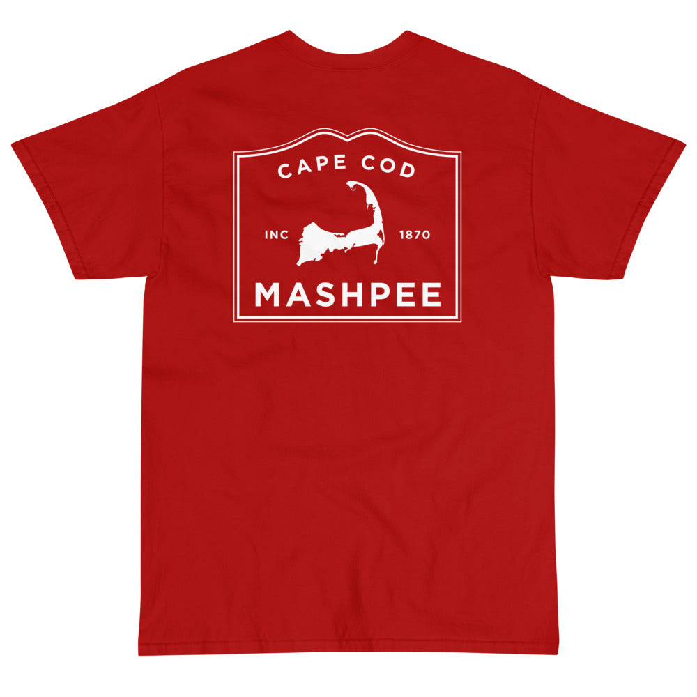Mashpee Cape Cod Short sleeve t-shirt (front & back)