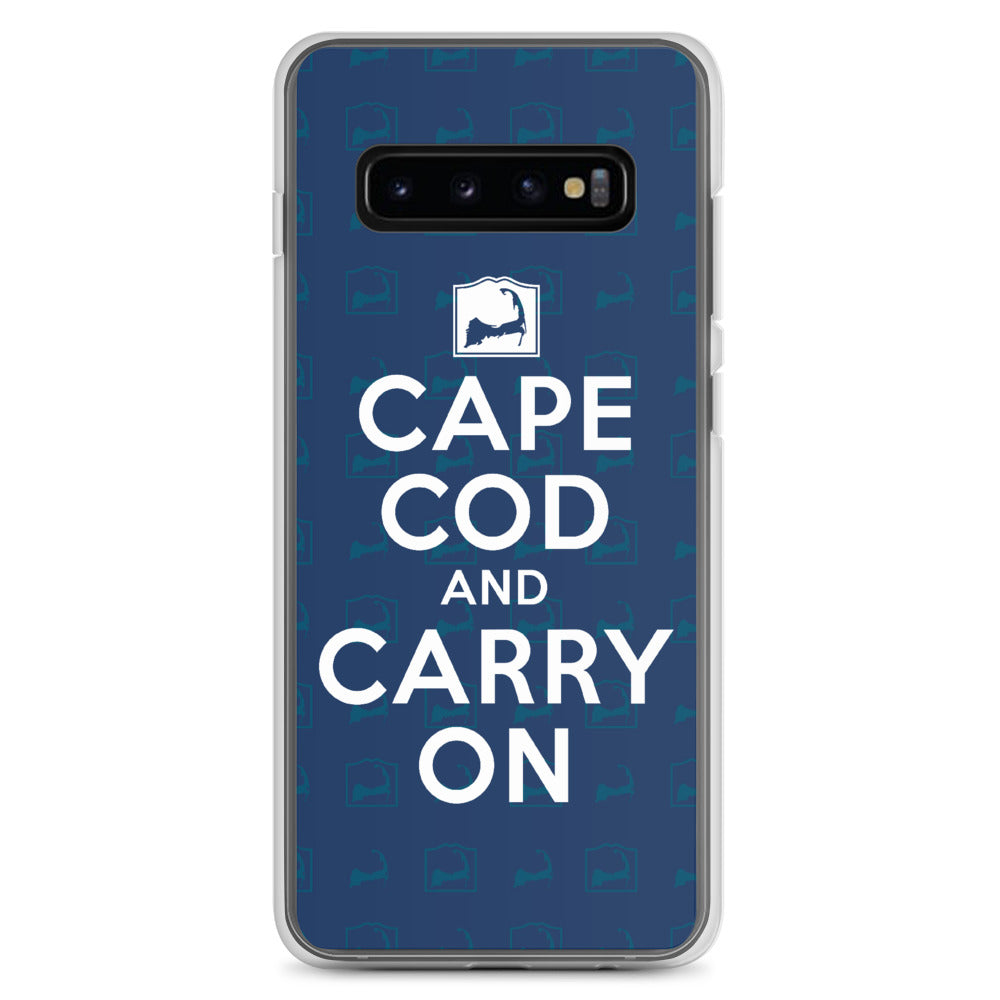 Cape Cod And Carry On Blue Samsung S10 Case