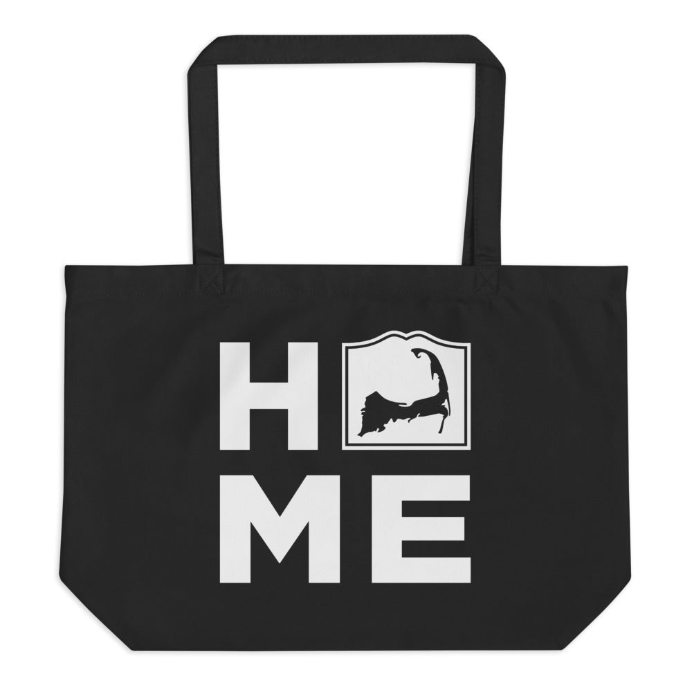 Cape Cod HOME Large Black Tote Bag