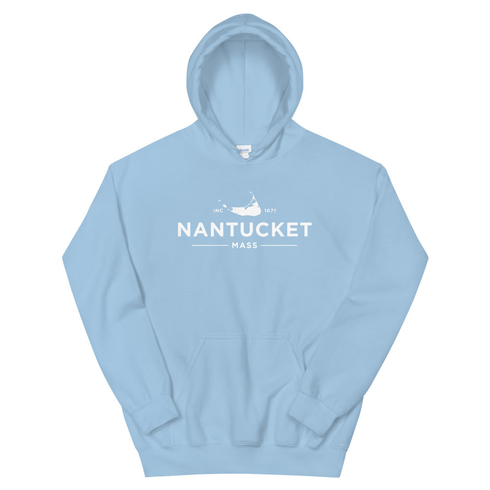 Nantucket Hoodie Sweatshirt light blue