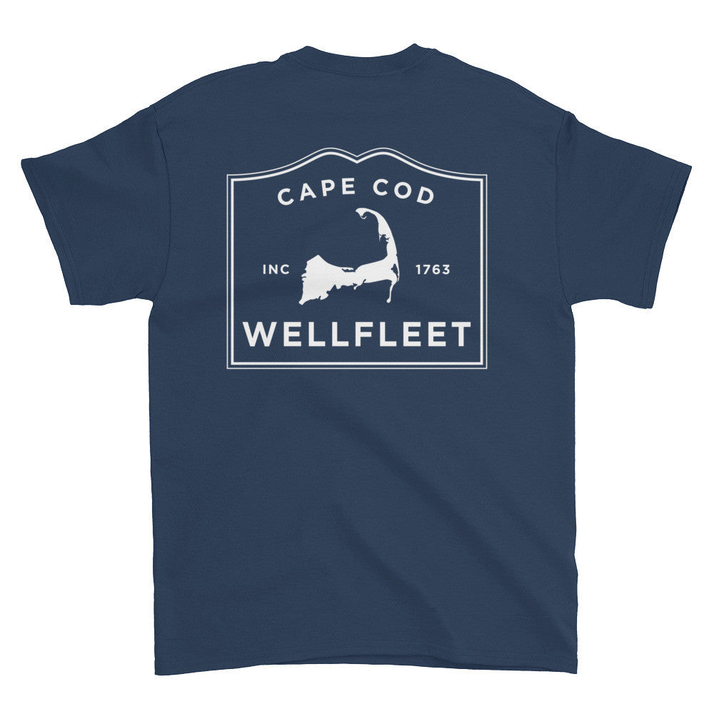 Wellfleet Cape Cod Short sleeve t-shirt (front & back)