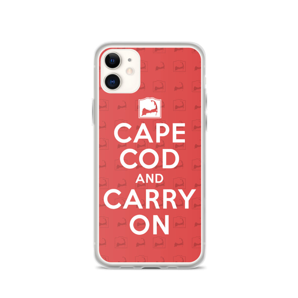 Cape Cod And Carry On Red iPhone Case