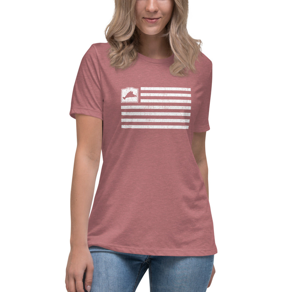 Martha's Vineyard Flag Women's Relaxed T-Shirt