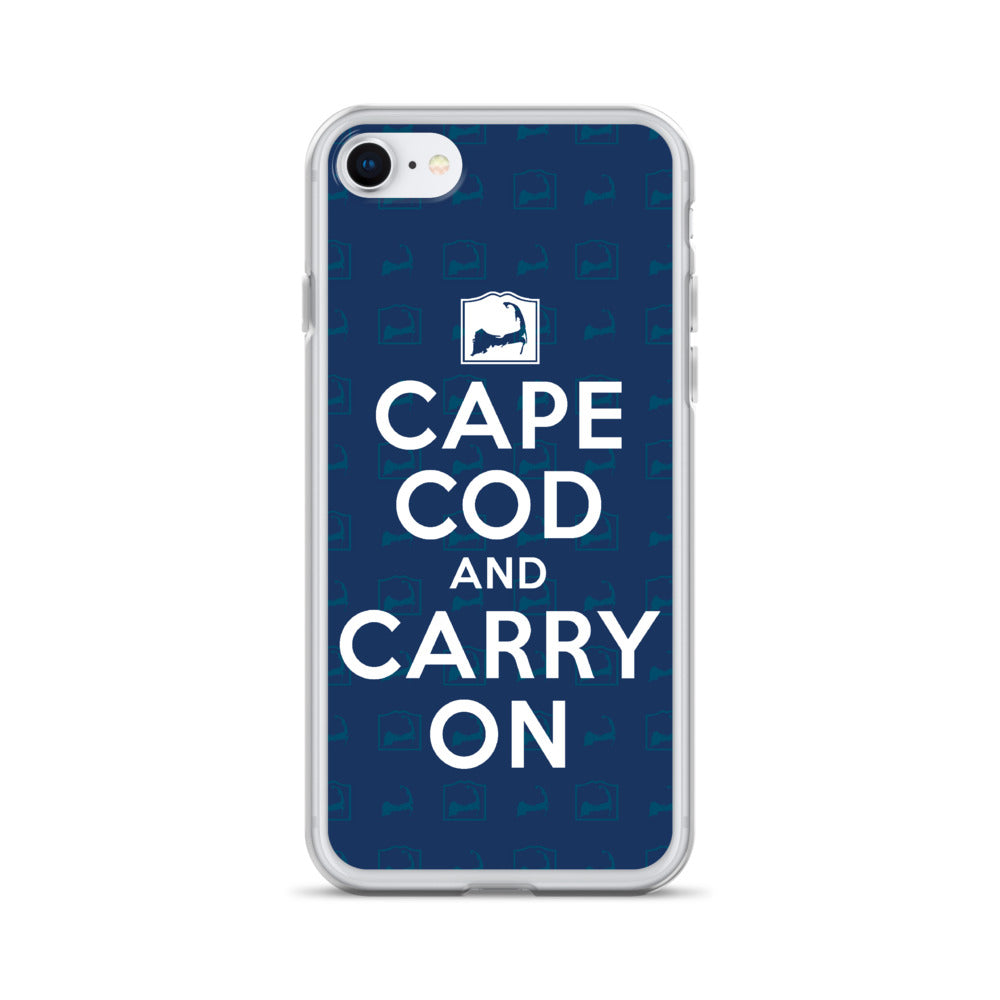 Cape Cod And Carry On Blue iPhone Case