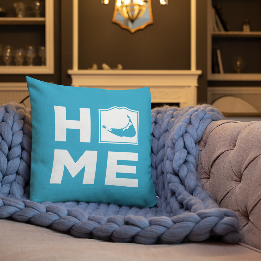 Nantucket HOME Pillow - Teal Blue