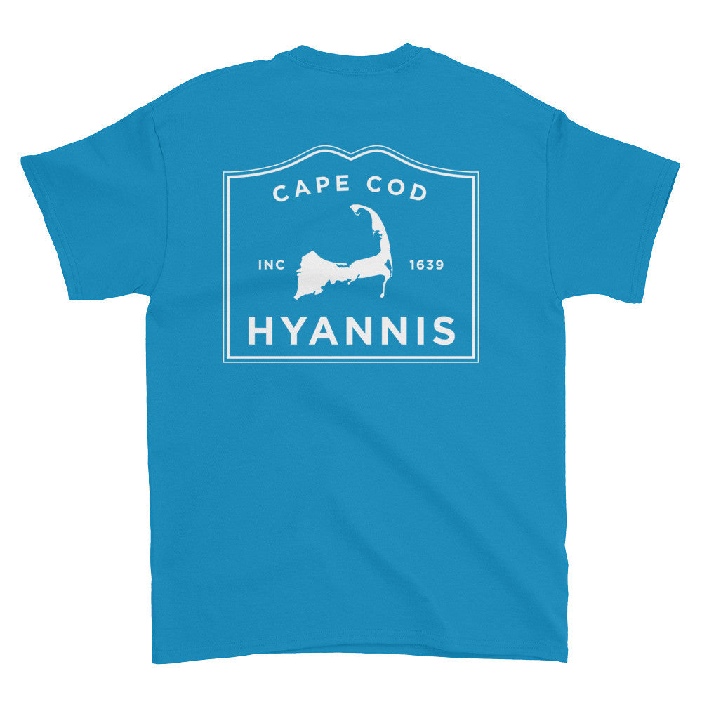 Hyannis Cape Cod Short sleeve t-shirt (front & back)