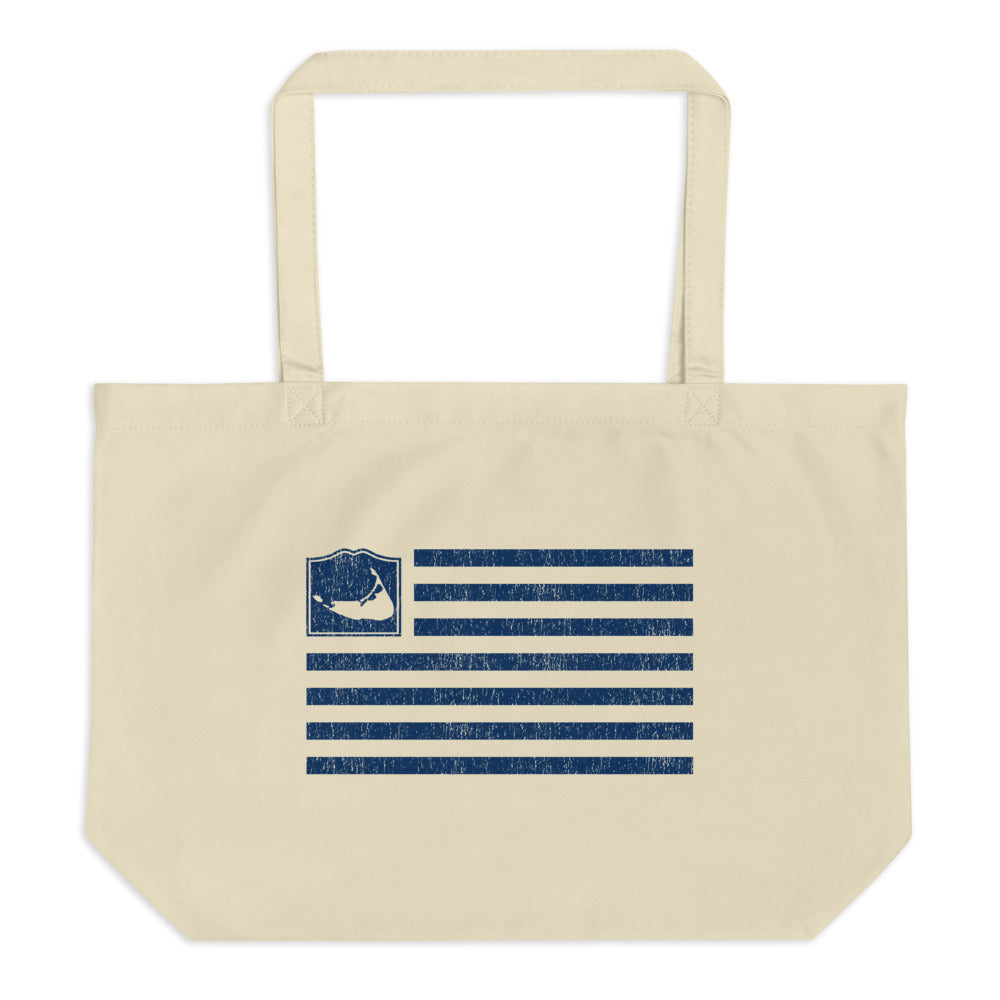 Nantucket Flag Large Tote Bag