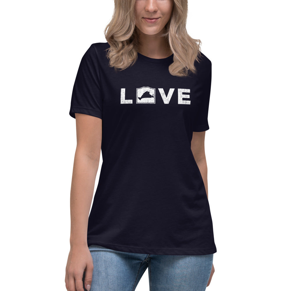 Martha's Vineyard LOVE Women's Relaxed T-Shirt
