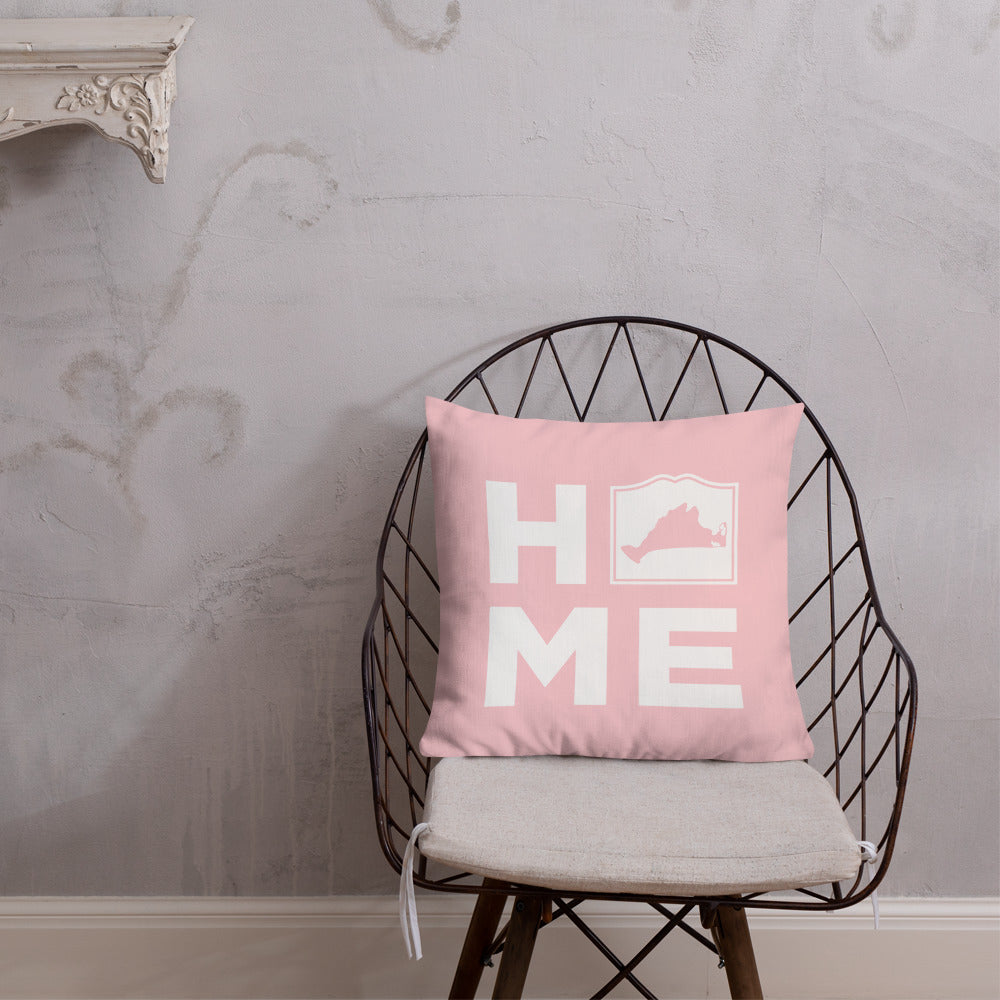 Martha's Vineyard HOME Pillow - Light Pink