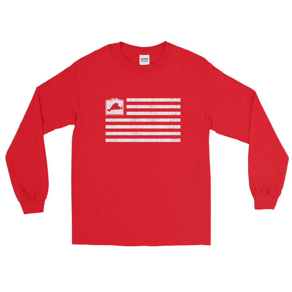 Martha's Vineyard Flag Long Sleeve Shirt