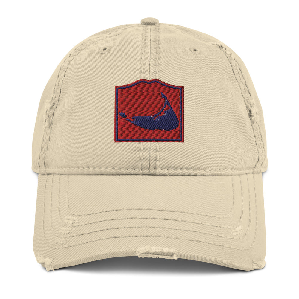 Nantucket Distressed Dad Hat