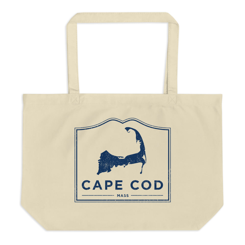 Cape Cod Mass Large Tote Bag Vintage Look