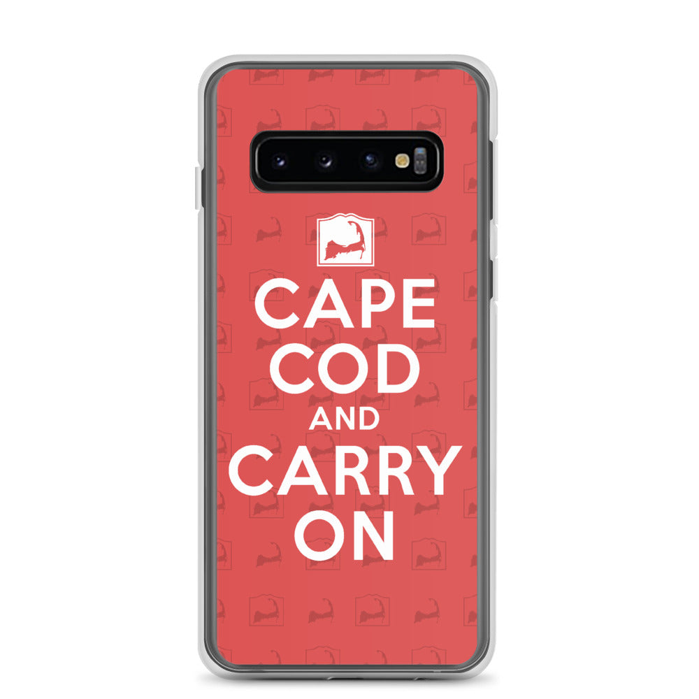 Cape Cod And Carry On Red Samsung S10 Case